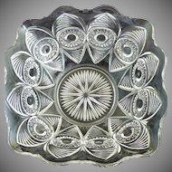 Antique glass bowl Bullseye & Fan EAPG c. 1904