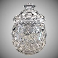 Antique pattern glass biscuit jar Crystal Glass Co. c. 1890s