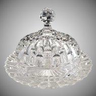 Vintage glass butter dish Westmoreland #15 pattern