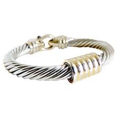 Vintage bracelet two tone silver gold magnet clasp Steampunk