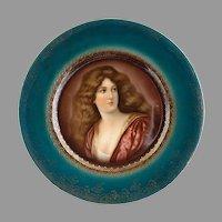 R.S. Prussia Victorian portrait plate