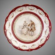 Antique porcelain portrait bowl bindenshield Carl Knoll