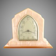 Vintage desk clock New Haven windup c. 1920s