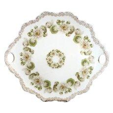 Antique cake plate Rosenthal Malmaison c. 1901 water lilies