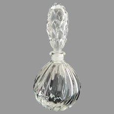 Vintage glass perfume bottle pineapple stopper scent bottle