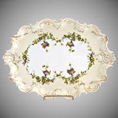 Antique porcelain vanity perfume tray Austria c. 1890s