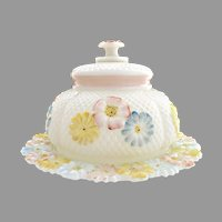 Antique Consolidated Glass butter dish Cosmos 1896-1915