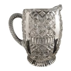 Antique O'Hara glass cream pitcher c. 1886