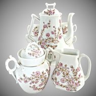 Antique Austria coffee pot set Marx Gutherz pattern #1813