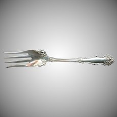 Antique silver cold meat fork  Arbutus Wm Rogers c. 1908