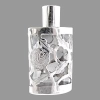 Vintage perfume bottle sterling overlay Hecho en Mexico