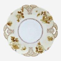 Antique German porcelain cake plate Hermann Ohme