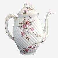 Antique porcelain coffee pot Lanternier Limoges c. 1891
