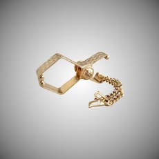 Vintage glove purse clip gold plated original box