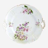 Antique cake plate German porcelain Krister c. 1880s