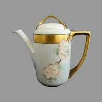 Rosenthal porcelain demitasse pot magnolias gold c. 1905