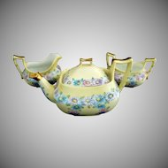 Art Deco tea set daisies gold Bavaria