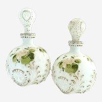 Antique Dithridge Glass vanity bottles Lions circa 1898