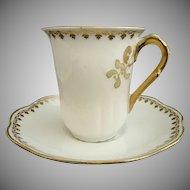 Antique Limoges chocolate cup saucer France porcelain