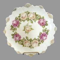 Rosenthal antique dinner plate Malmaison rose pattern