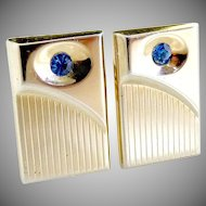 Vintage mens cufflinks by Hickok c. 1960s