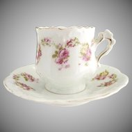 Victorian demitasse chocolate cup Hermann Ohme porcelain