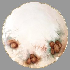 Bavaria plate hand painted pinecones