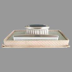Vintage sterling silver baby comb brush set