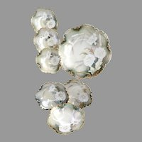 Victorian R.S. Prussia porcelain berry bowl set