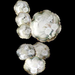 Victorian R.S. Prussia porcelain berry bowl set