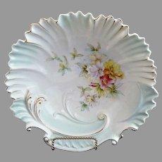 RS Prussia porcelain bowl shell rim Art Nouveau