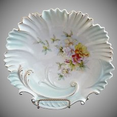 RS Prussia Art Nouveau bowl shell rim