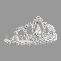 Rhinestone crown tiara hair comb wedding prom bling