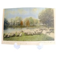 Wallace Nutting print hand colored Not One of Four Hundred A Warm Spring Day