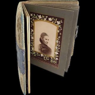 Victorian cabinet card photo album velvet cover