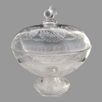 EAPG compote Thistle by Bryce Walker & Co. c. 1872