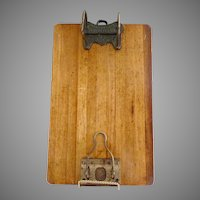 Antique wood clipboard Shannon Arch Scrantoms Stationary Store