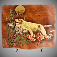 English candy tin pointer dogs