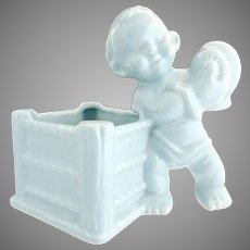 Haeger pottery boxing boy planter nursery