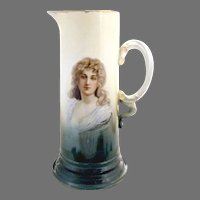 Antique Rosenthal portrait tankard Constance c. 1900 Bavaria Germany