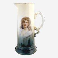 Antique Rosenthal wine tankard Constance portrait  c. 1900 Bavaria Germany