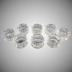 US Glass antique salt dips salt cellars Daisy Button