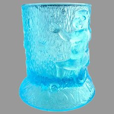 EAPG blue toothpick holder Monkeys U.S. Glass c.1904