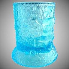 US Glass blue toothpick holder Monkeys
