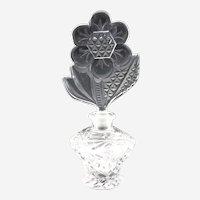 Vintage Czech pressed glass perfume daisy stopper