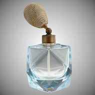 Art Deco blue glass atomizer perfume Austria