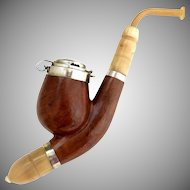 Vintage Tyrolean pipe real briar Czechoslovakia