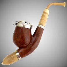 Vintage Tyrolean pipe real briar Czechoslovakia