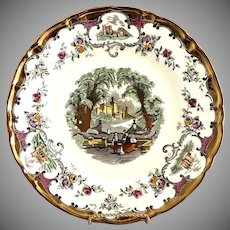 Leeds dinner plate Mason Pottery c. 1920s
