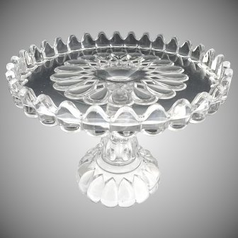 EAPG cake stand Jacobs Tears Art c. 1889 Adams Glass